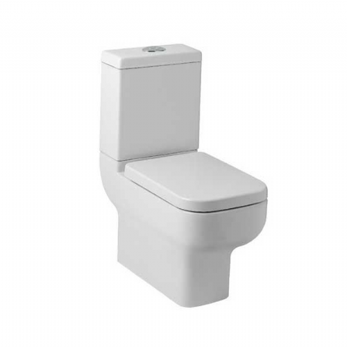 Kartell Options 600 Close To Wall Close Coupled Toilet - Cistern - Premium Close Seat - White